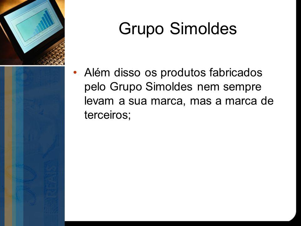 Grupo Simoldes Além disso os produtos fabricados pelo Grupo Simoldes nem sempre levam a sua marca, mas a marca de terceiros;
