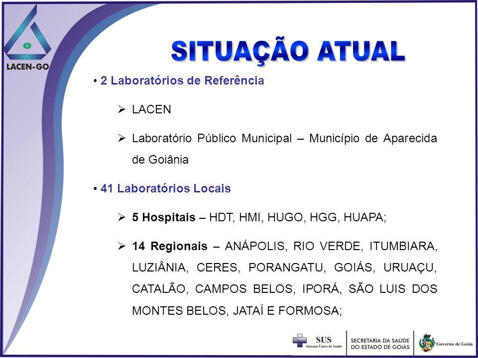 SITUAÇÃO ATUAL 2 Laboratórios de Referência LACEN