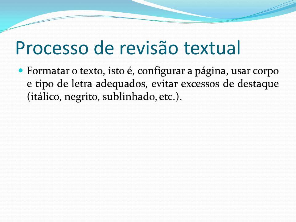 Processo de revisão textual