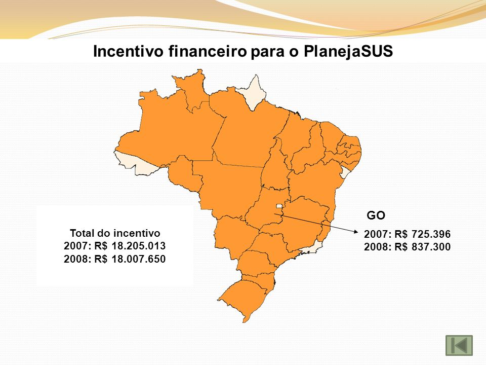 Incentivo financeiro para o PlanejaSUS