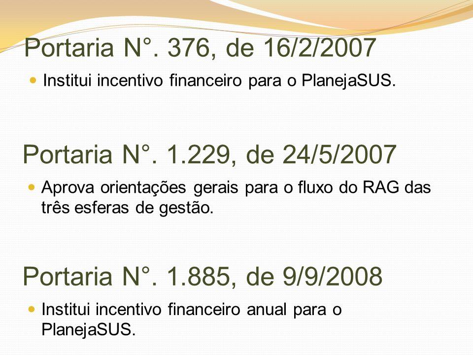 Portaria N°. 376, de 16/2/2007 Portaria N°. 1.229, de 24/5/2007