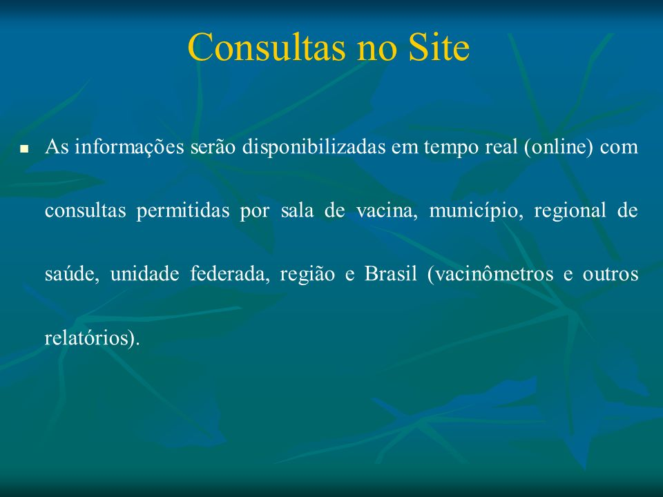 Consultas no Site