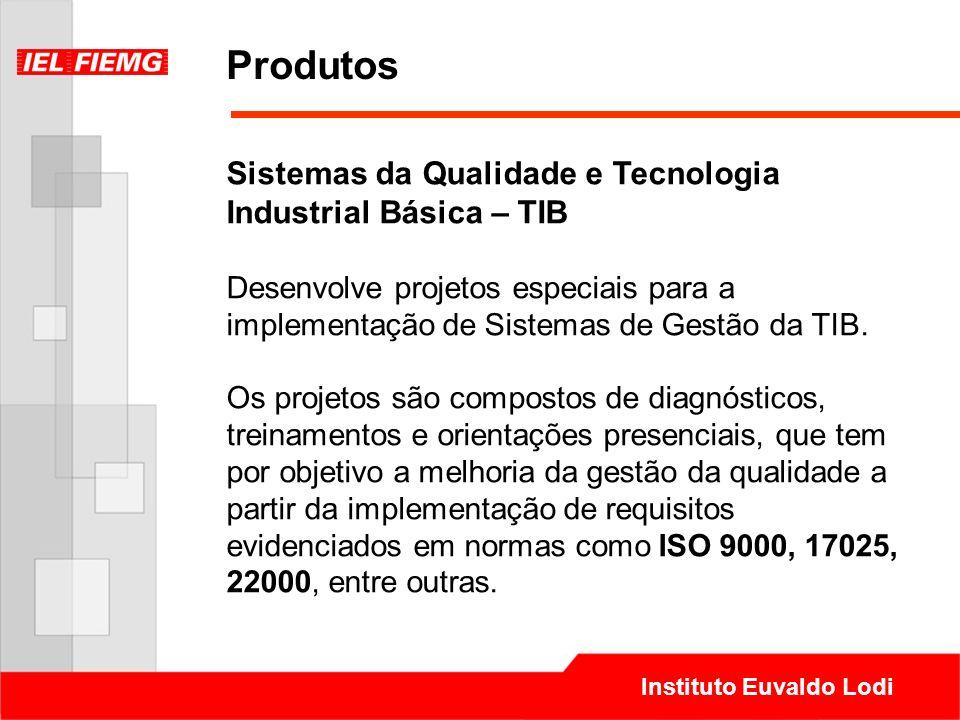 Produtos Sistemas da Qualidade e Tecnologia Industrial Básica – TIB