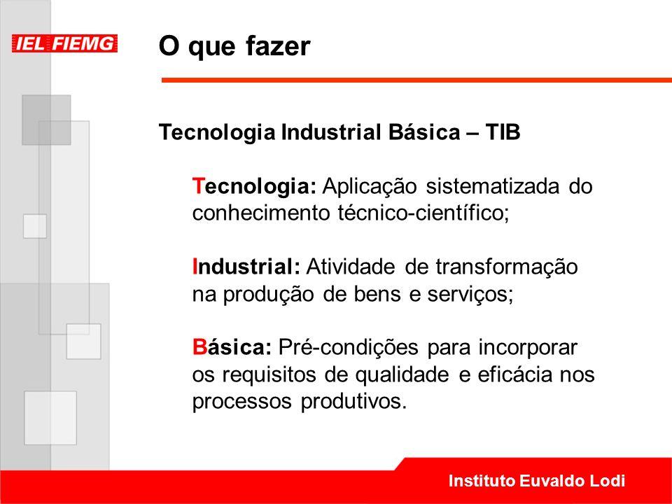 O que fazer Tecnologia Industrial Básica – TIB