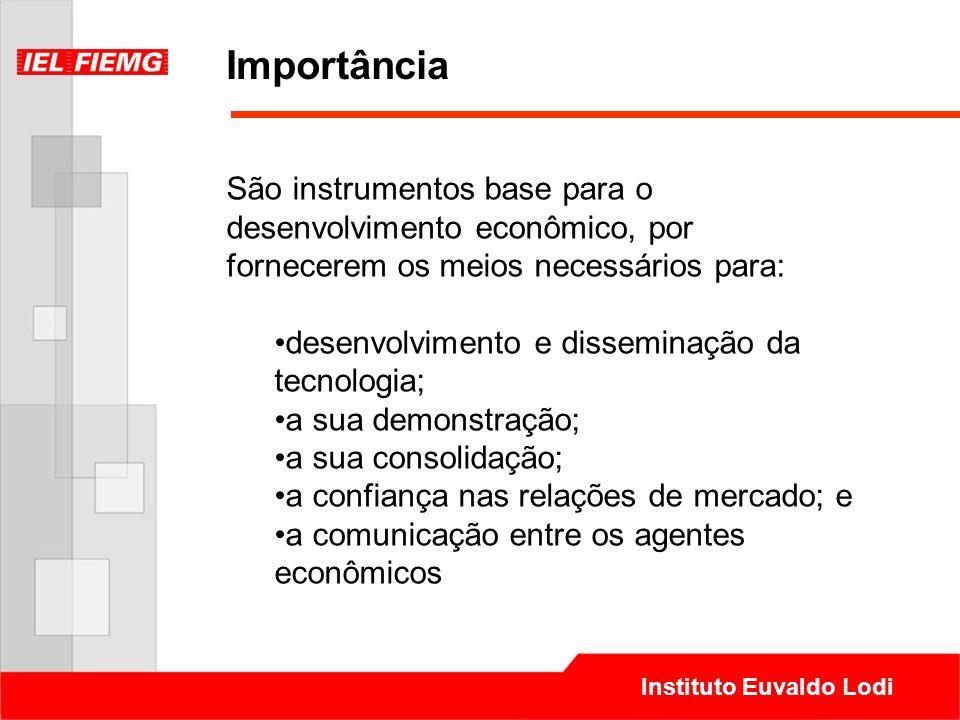 Importância São instrumentos base para o desenvolvimento econômico, por fornecerem os meios necessários para: