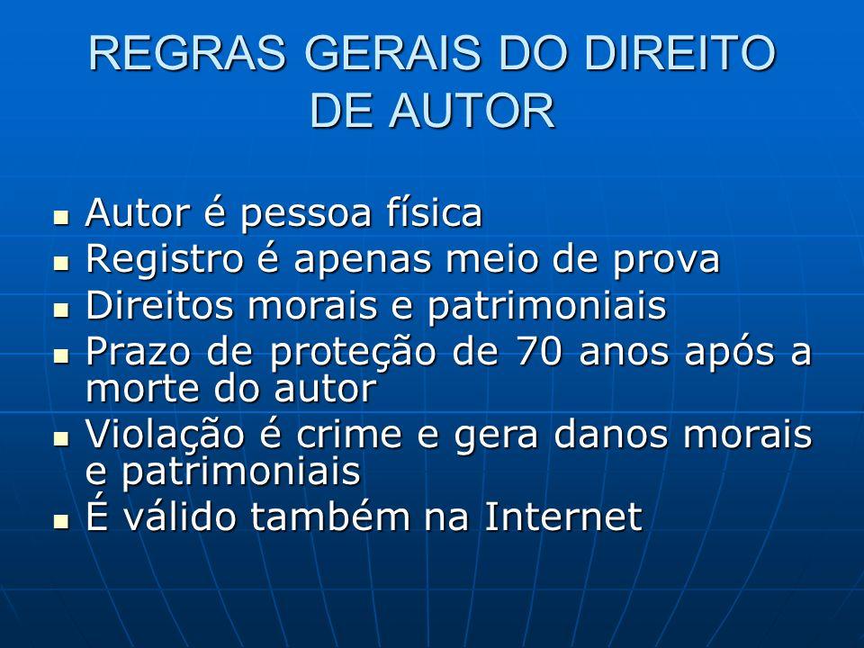 REGRAS GERAIS DO DIREITO DE AUTOR