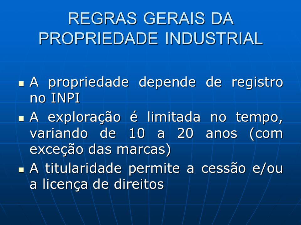 REGRAS GERAIS DA PROPRIEDADE INDUSTRIAL