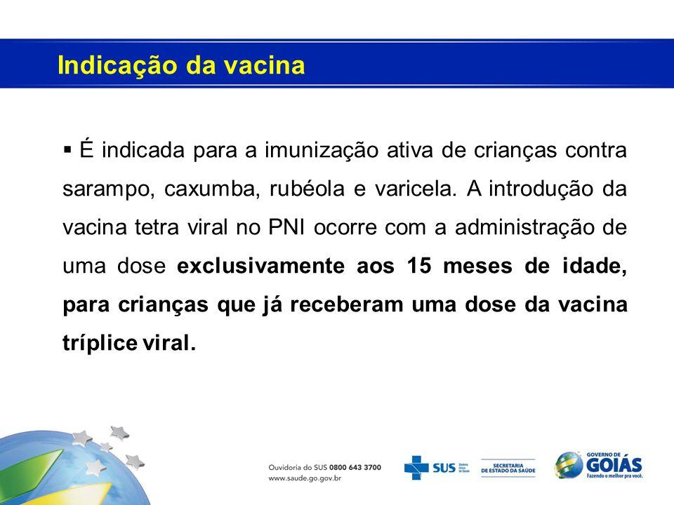Indicação da vacina