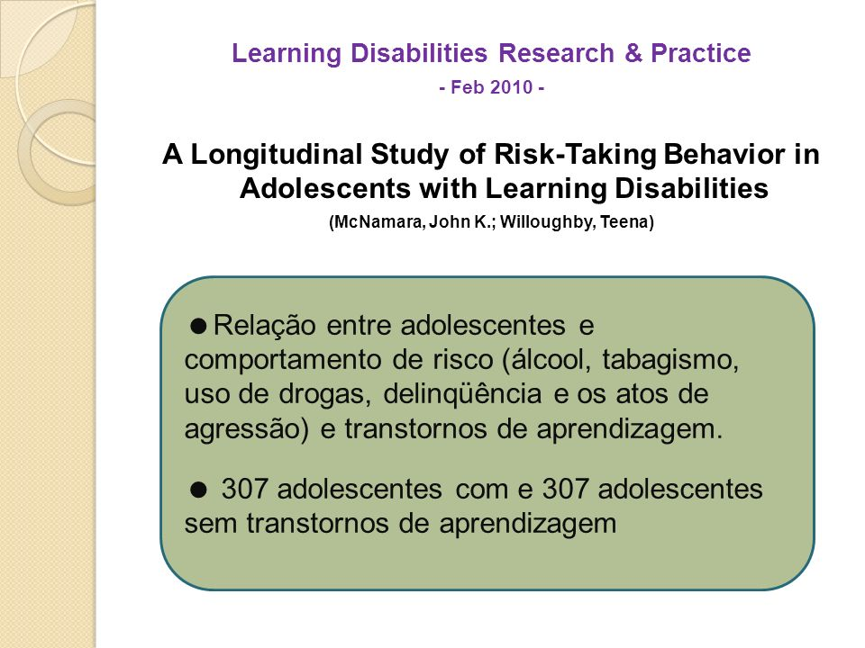 Learning Disabilities Research & Practice