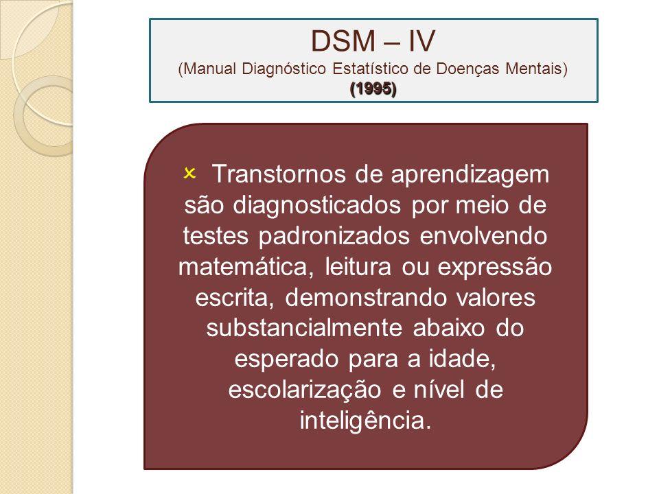 DSM – IV (Manual Diagnóstico Estatístico de Doenças Mentais) (1995)