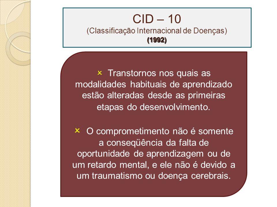 CID – 10 (Classificação Internacional de Doenças)