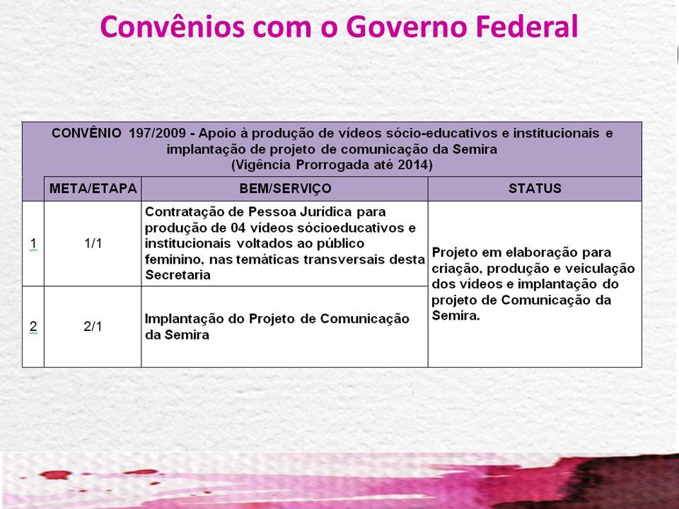 Convênios com o Governo Federal
