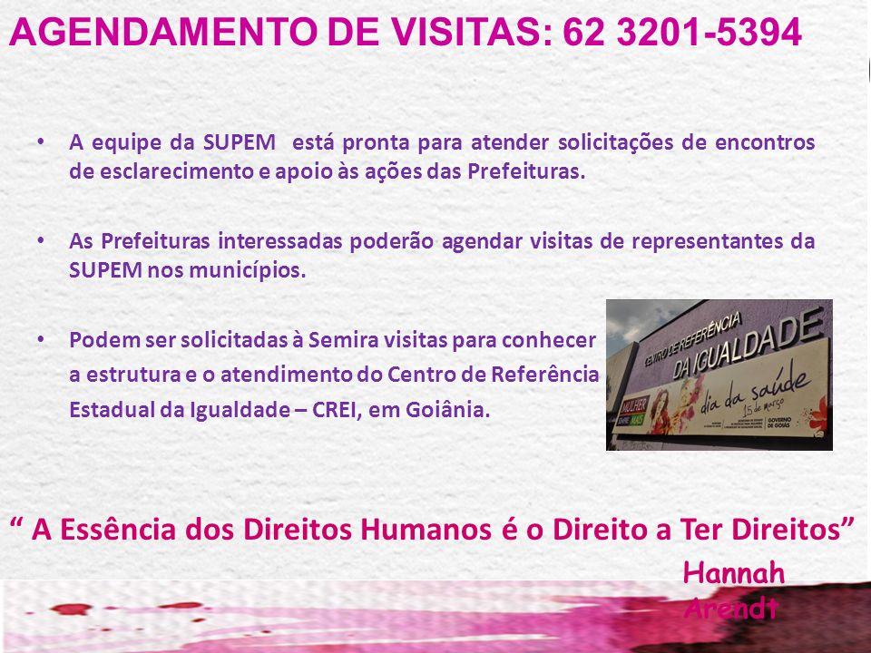 AGENDAMENTO DE VISITAS: 62 3201-5394