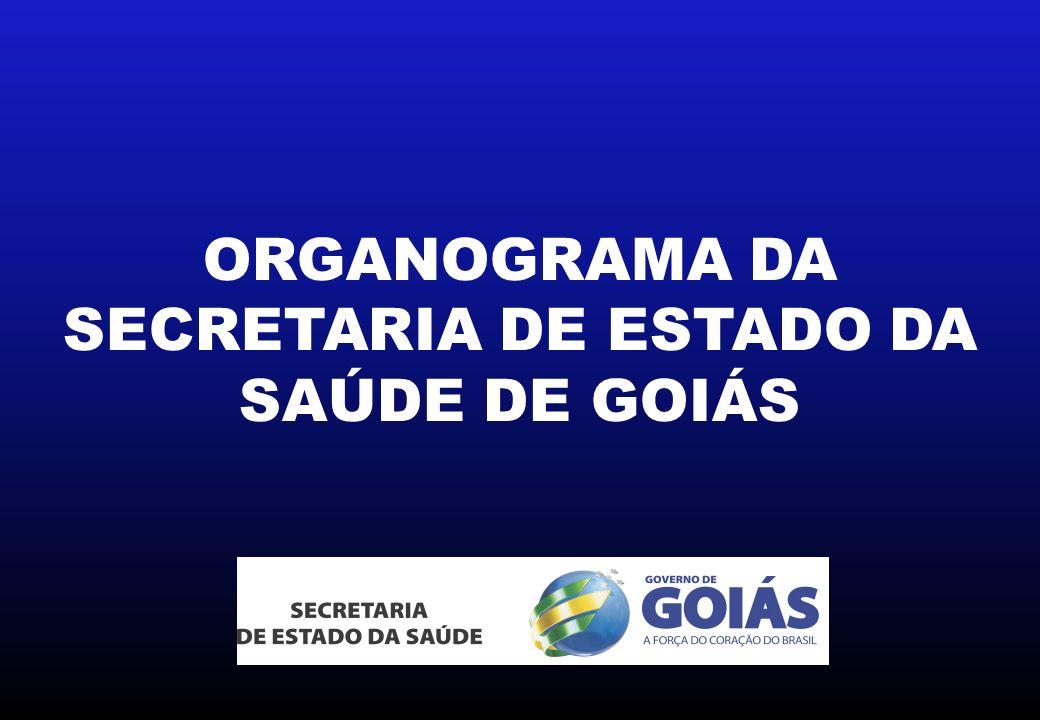 ORGANOGRAMA DA SECRETARIA DE ESTADO DA SAÚDE DE GOIÁS