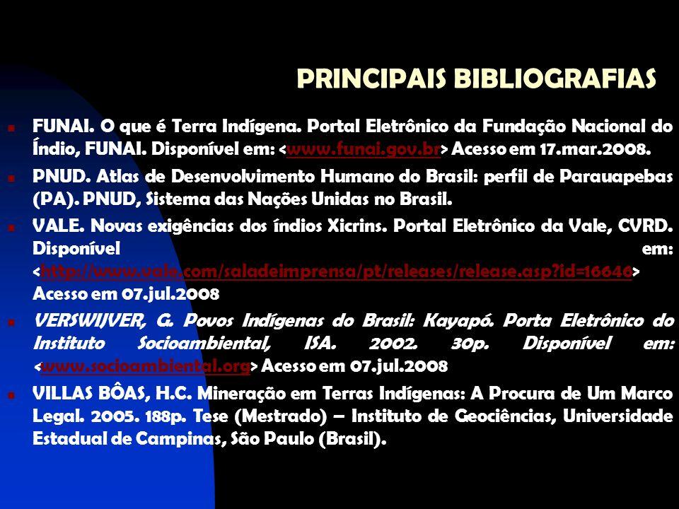 PRINCIPAIS BIBLIOGRAFIAS