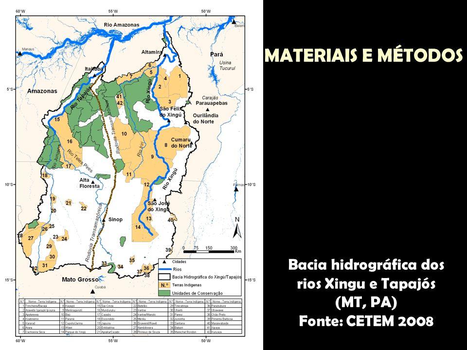 Bacia hidrográfica dos rios Xingu e Tapajós (MT, PA)