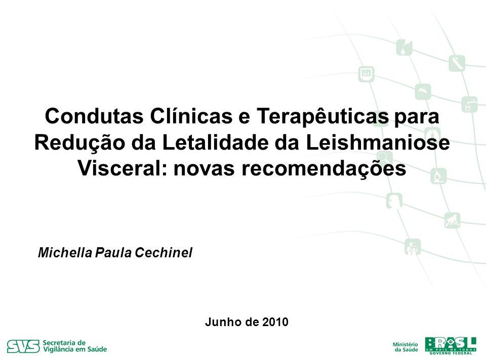 Condutas Clínicas e Terapêuticas para Redução da Letalidade da Leishmaniose Visceral: novas recomendações