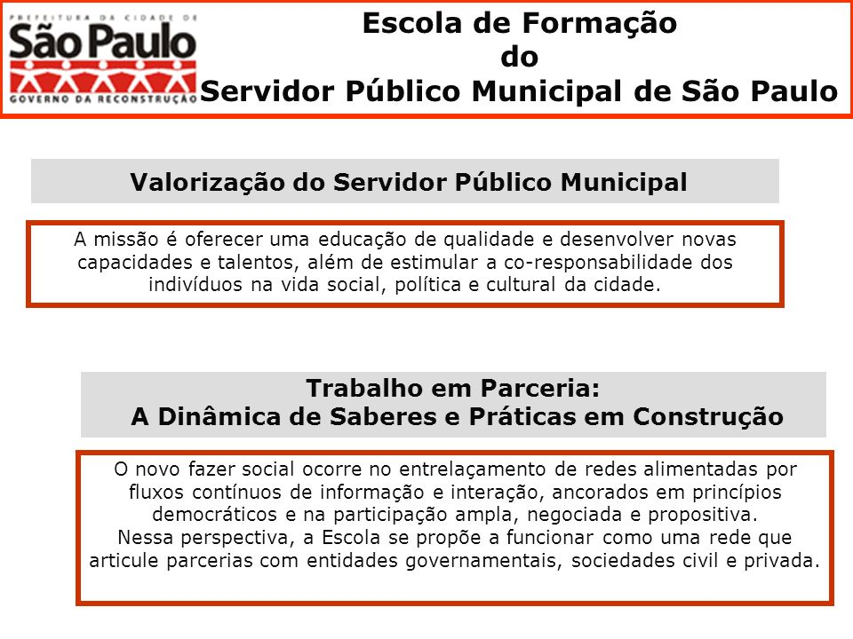 Escola de Formação do Servidor Público Municipal de São Paulo