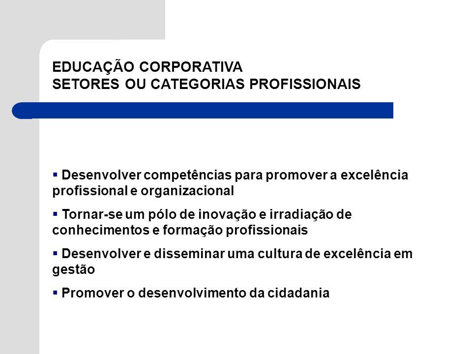 SETORES OU CATEGORIAS PROFISSIONAIS