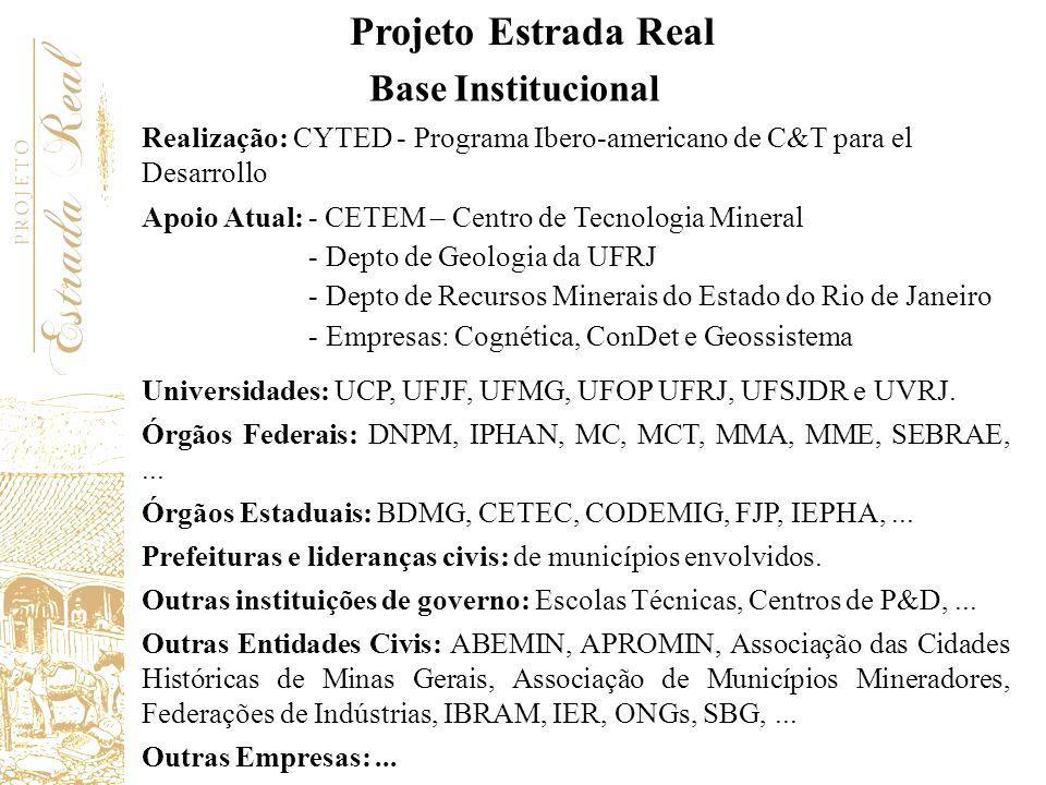 Projeto Estrada Real Base Institucional