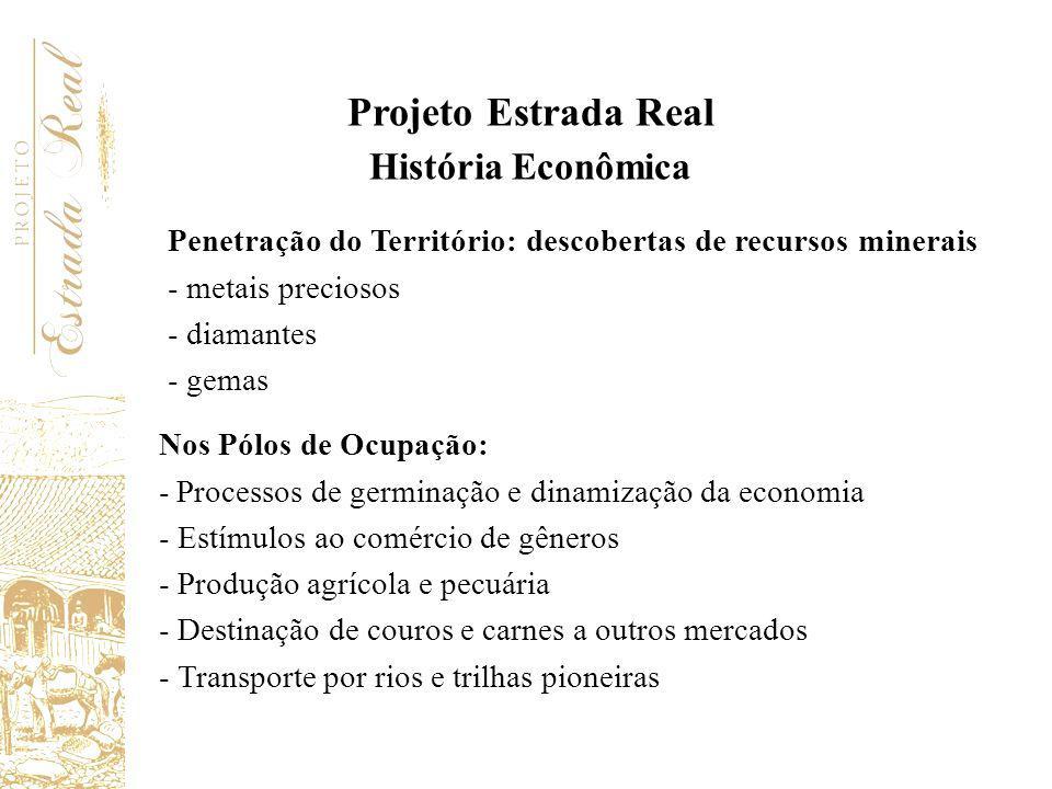 Projeto Estrada Real História Econômica