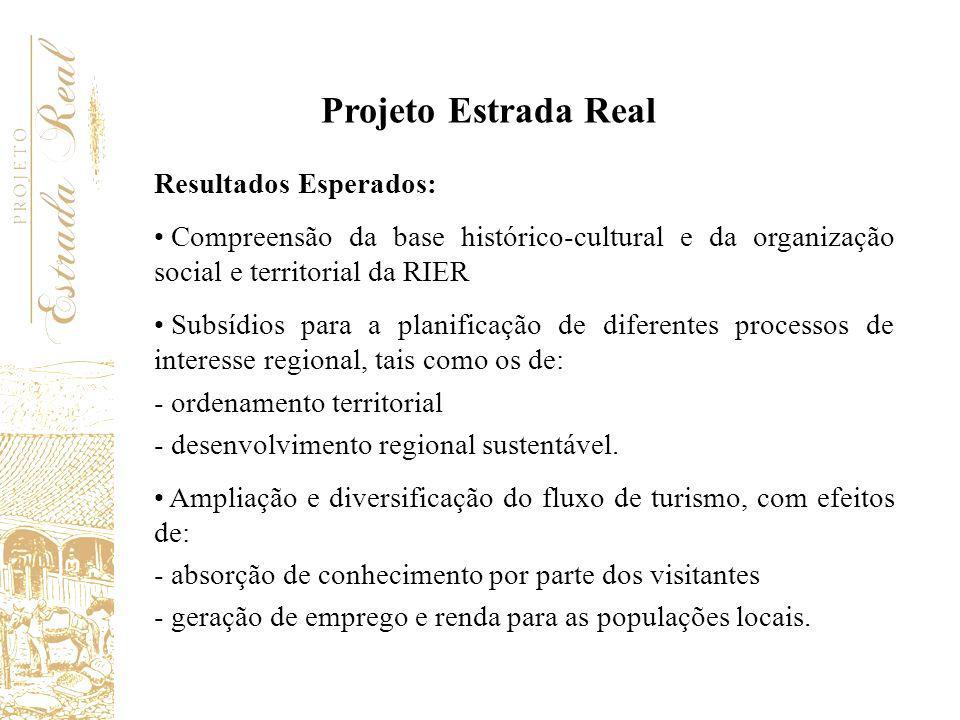 Projeto Estrada Real Resultados Esperados: