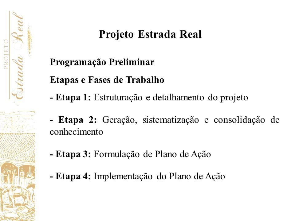 Projeto Estrada Real Programação Preliminar Etapas e Fases de Trabalho