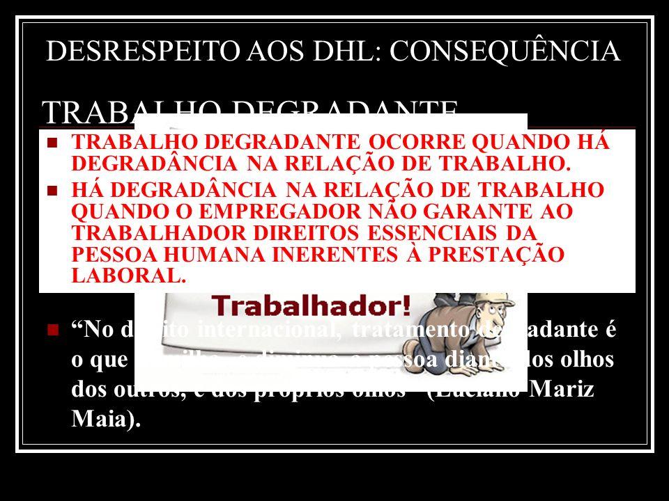 TRABALHO DEGRADANTE FRAUDES A DIREITOS LABORAIS
