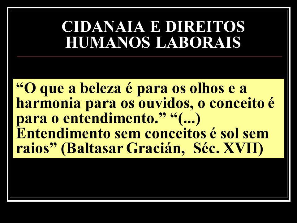 CIDANAIA E DIREITOS HUMANOS LABORAIS
