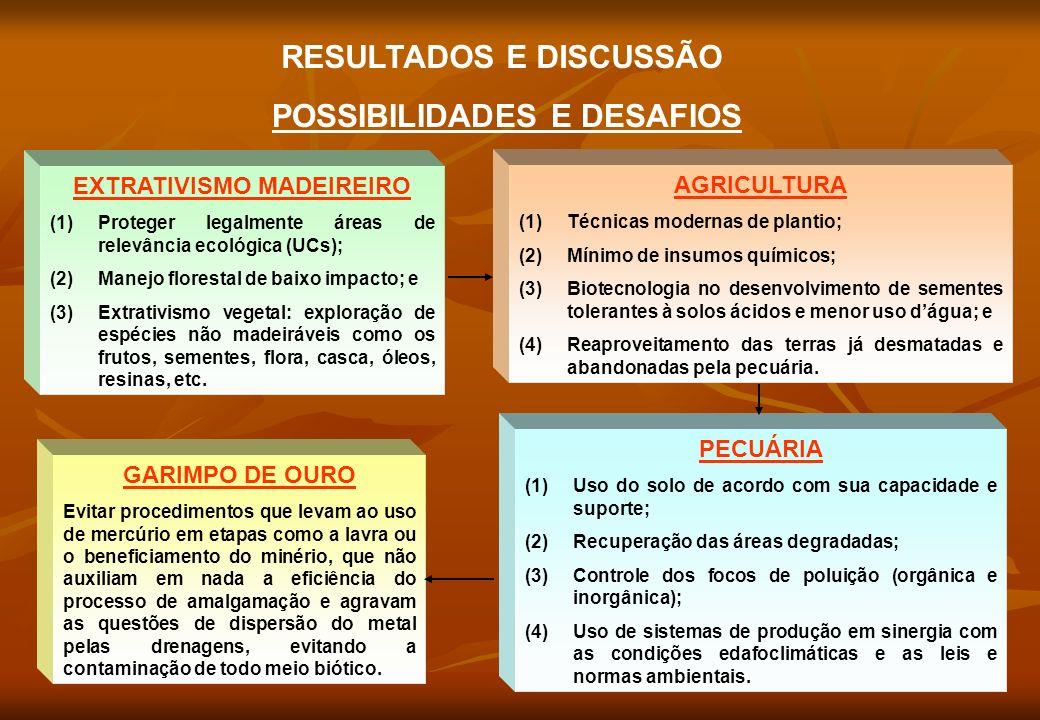 RESULTADOS E DISCUSSÃO POSSIBILIDADES E DESAFIOS