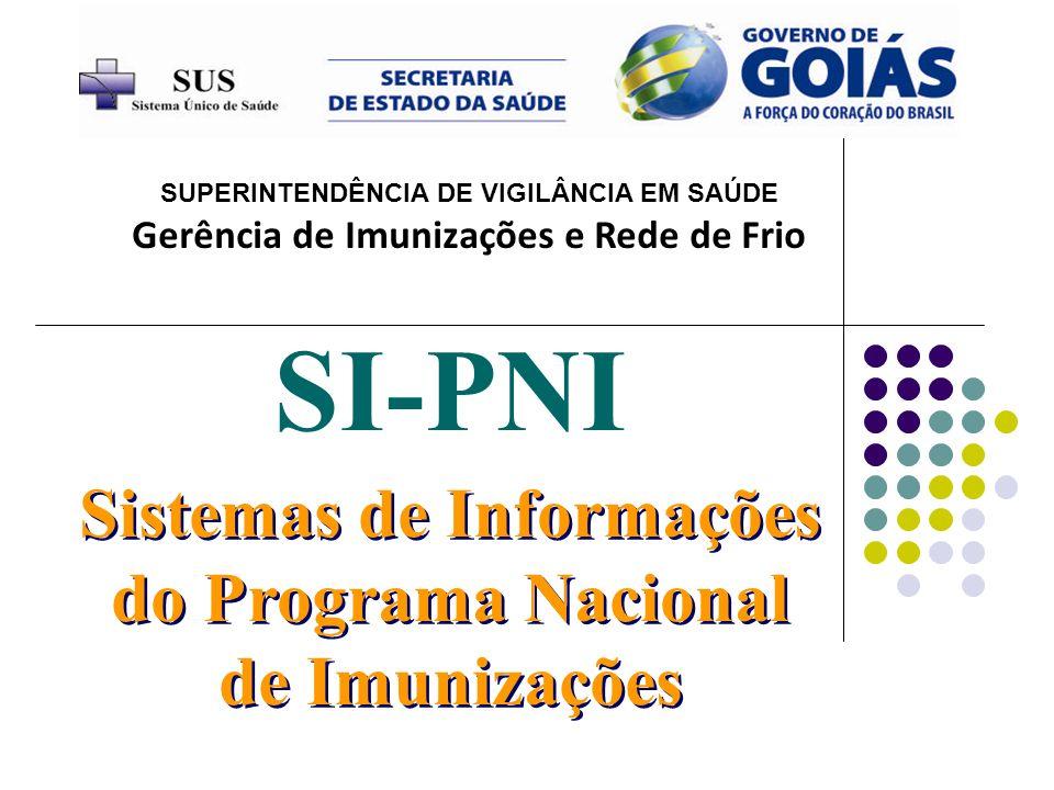 SI-PNI Sistemas de Informações do Programa Nacional de Imunizações
