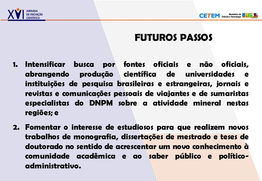 FUTUROS PASSOS