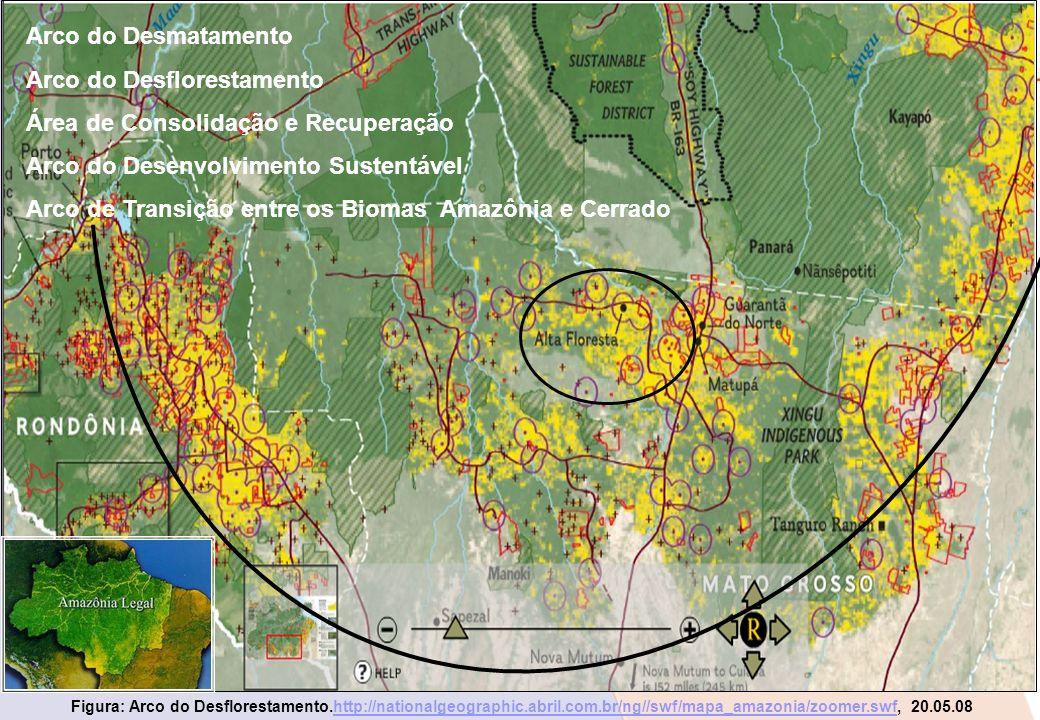 Arco do Desflorestamento Área de Consolidação e Recuperação