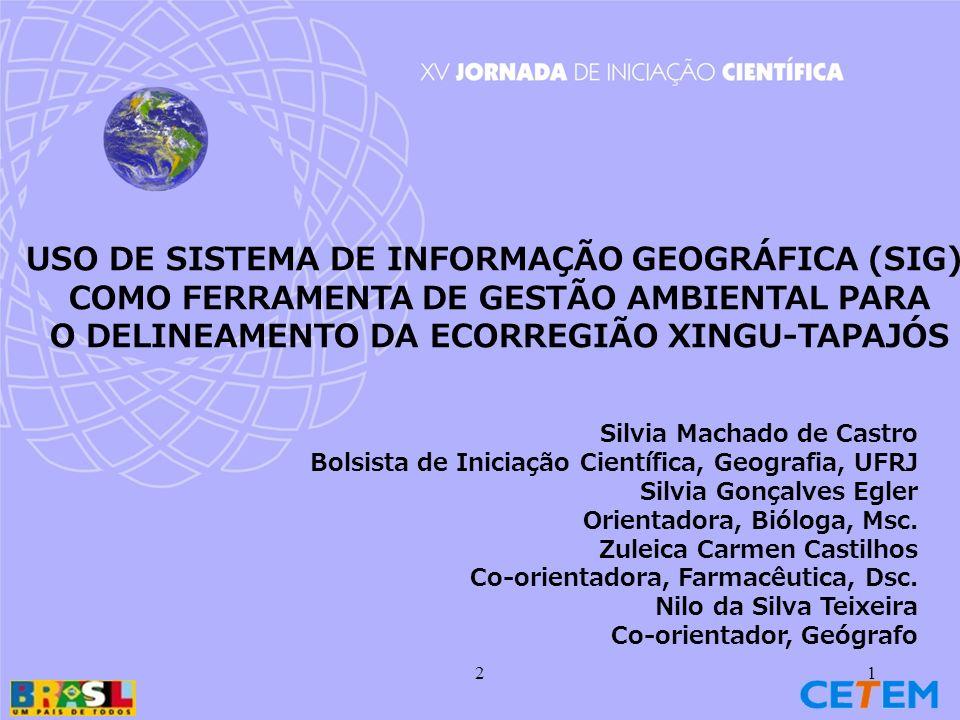 USO DE SISTEMA DE INFORMAÇÃO GEOGRÁFICA (SIG)