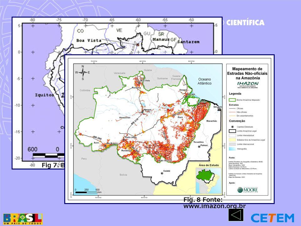 Fig 7. Bacia amazônica. Fonte: www.ana.gov.br/hibram