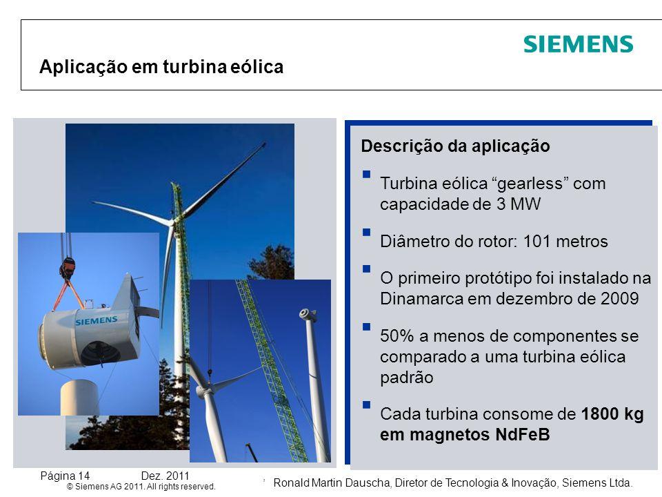 Aplicação em turbina eólica