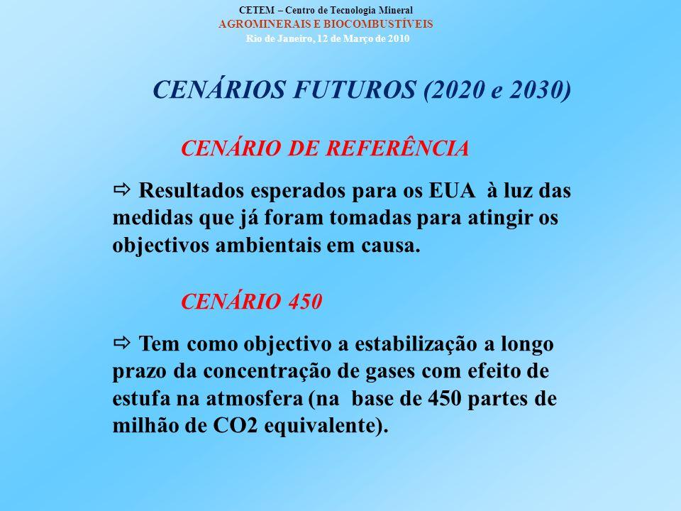 CENÁRIOS FUTUROS (2020 e 2030) CENÁRIO DE REFERÊNCIA