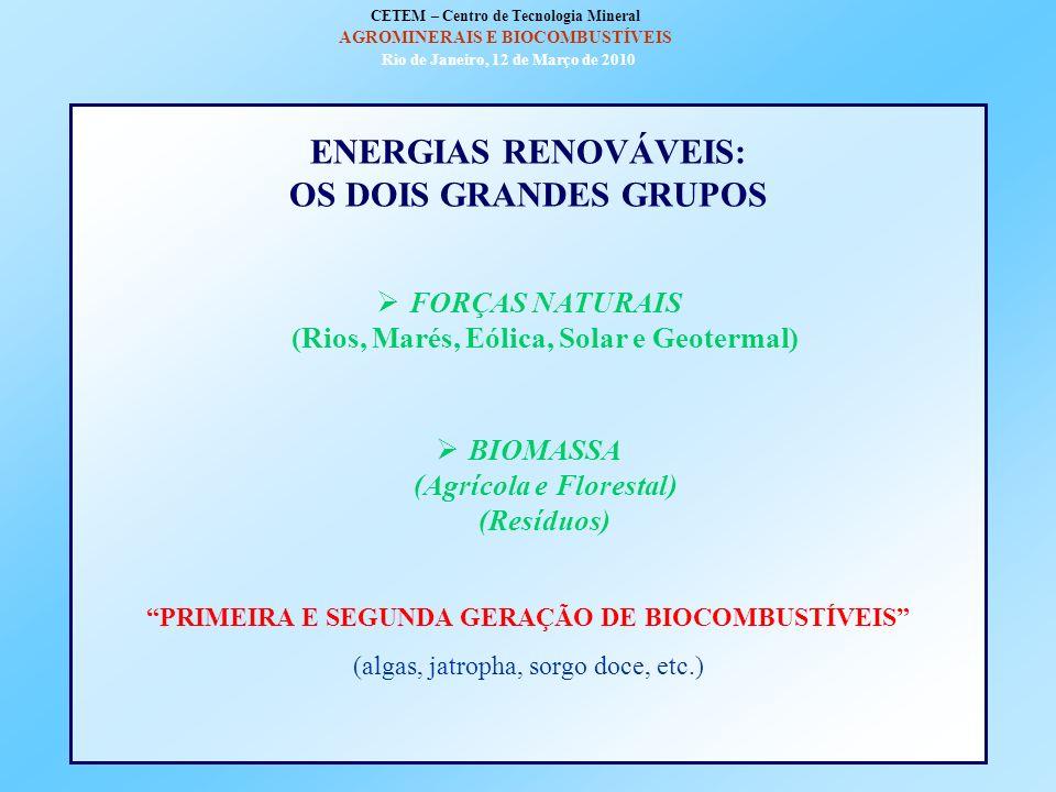 ENERGIAS RENOVÁVEIS: OS DOIS GRANDES GRUPOS