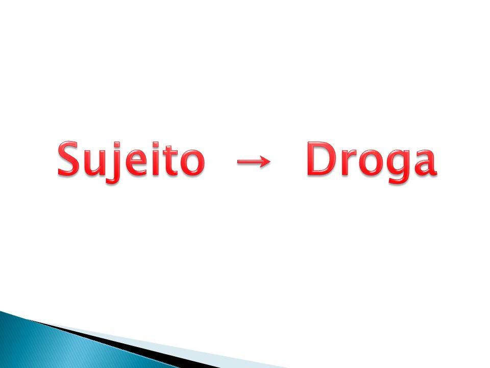 Sujeito → Droga