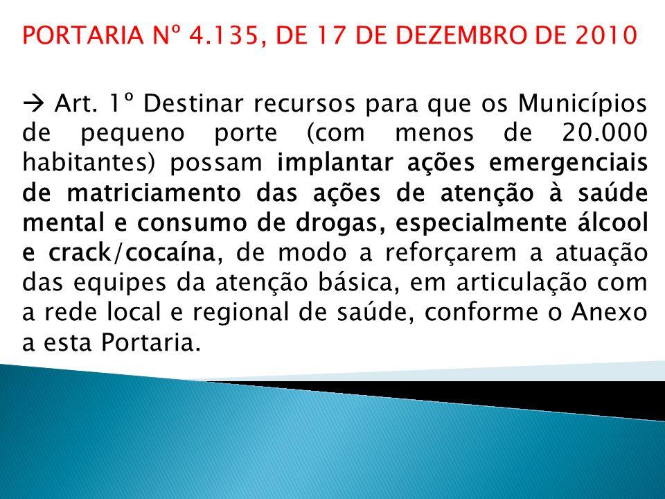 PORTARIA Nº 4.135, DE 17 DE DEZEMBRO DE 2010
