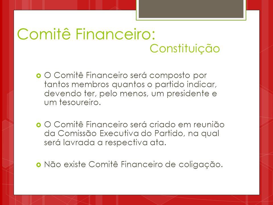 Comitê Financeiro: Constituição