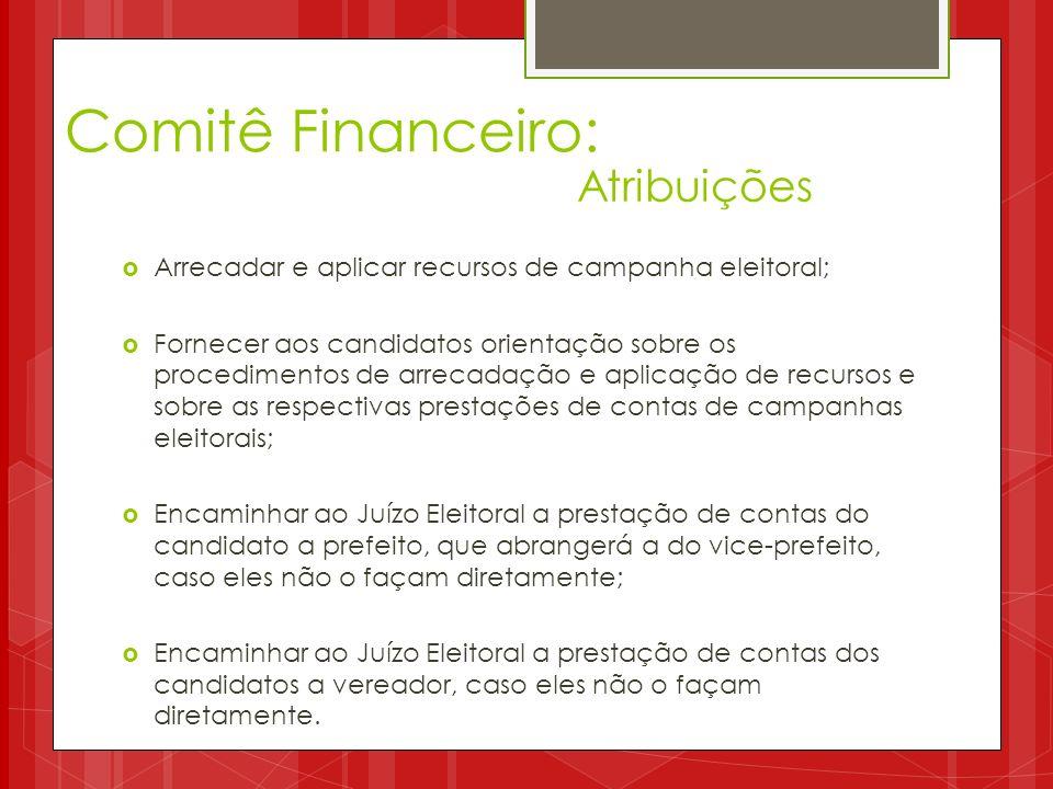 Comitê Financeiro: Atribuições