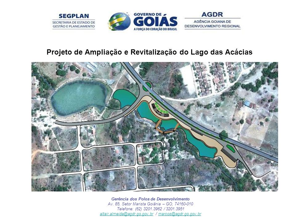 Projeto de Ampliação e Revitalização do Lago das Acácias