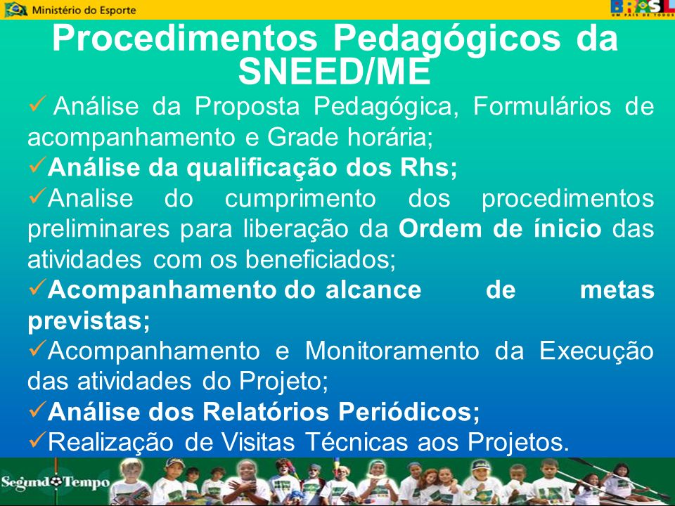 Procedimentos Pedagógicos da SNEED/ME