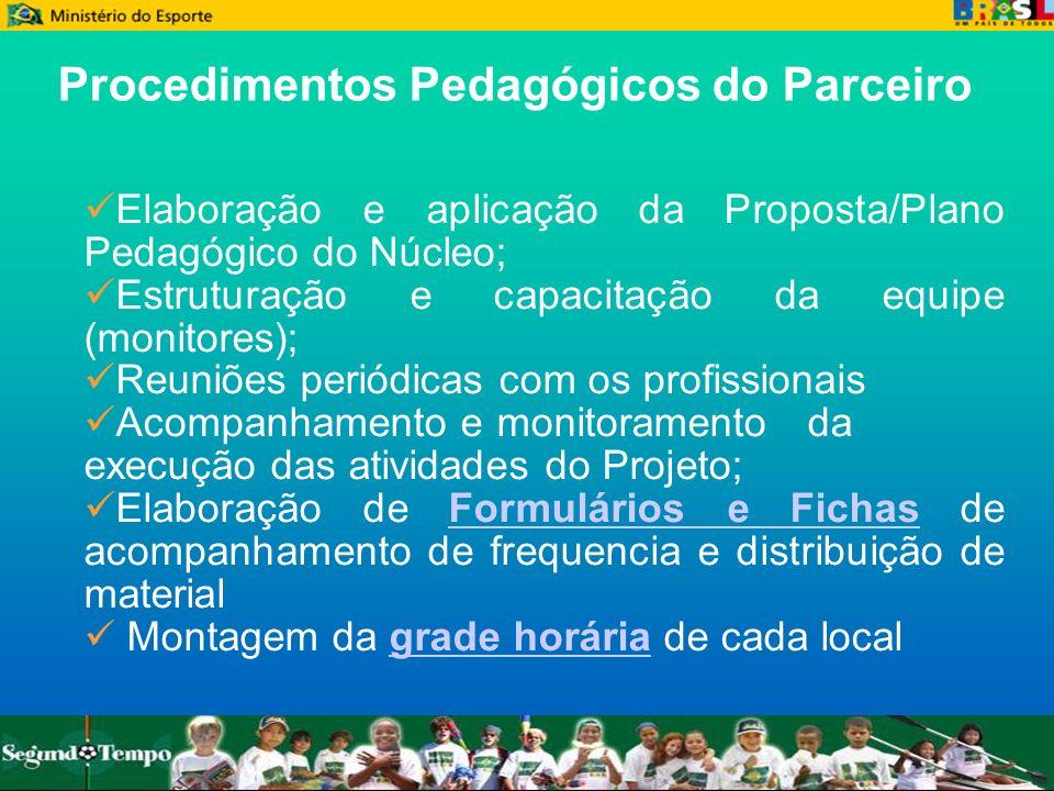 Procedimentos Pedagógicos do Parceiro