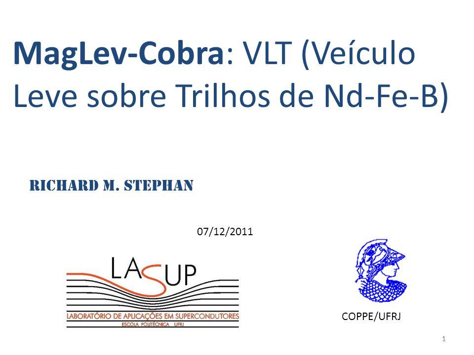 MagLev-Cobra: VLT (Veículo Leve sobre Trilhos de Nd-Fe-B)