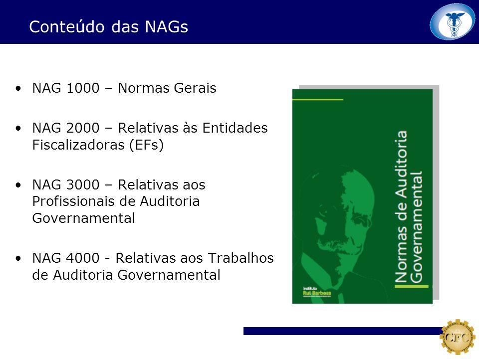 Conteúdo das NAGs NAG 1000 – Normas Gerais