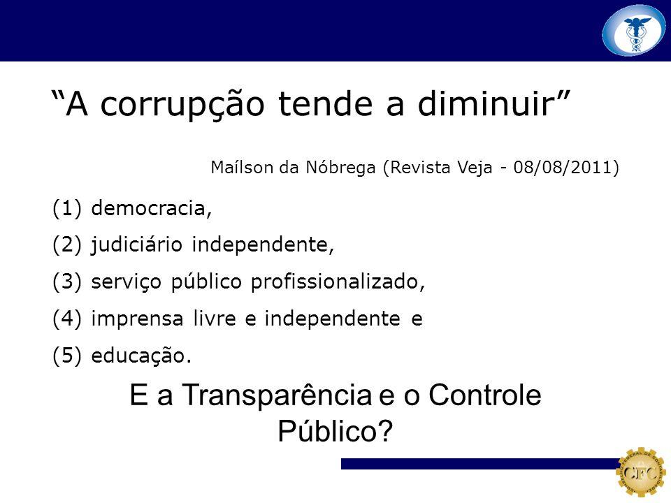 E a Transparência e o Controle Público