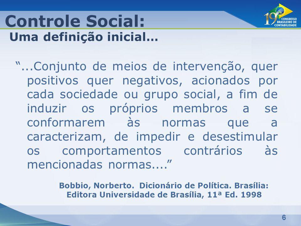 Controle Social: Uma definição inicial…