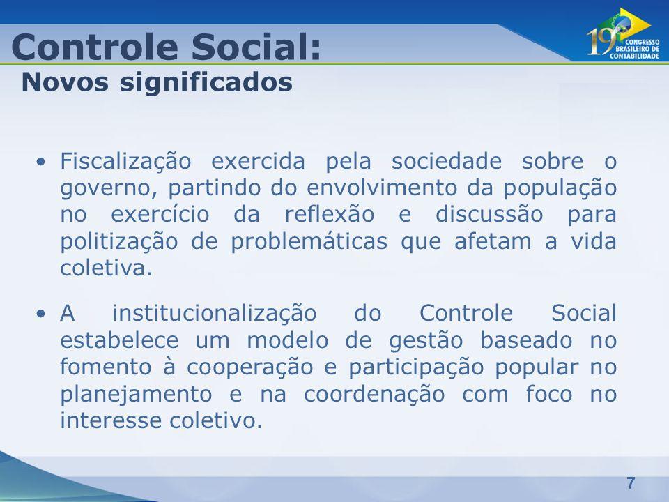Controle Social: Novos significados